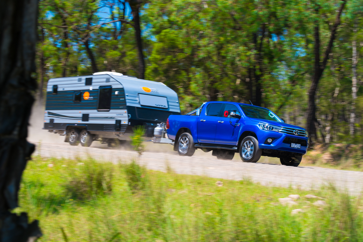 Hilux dual cab offers varying towing capacities