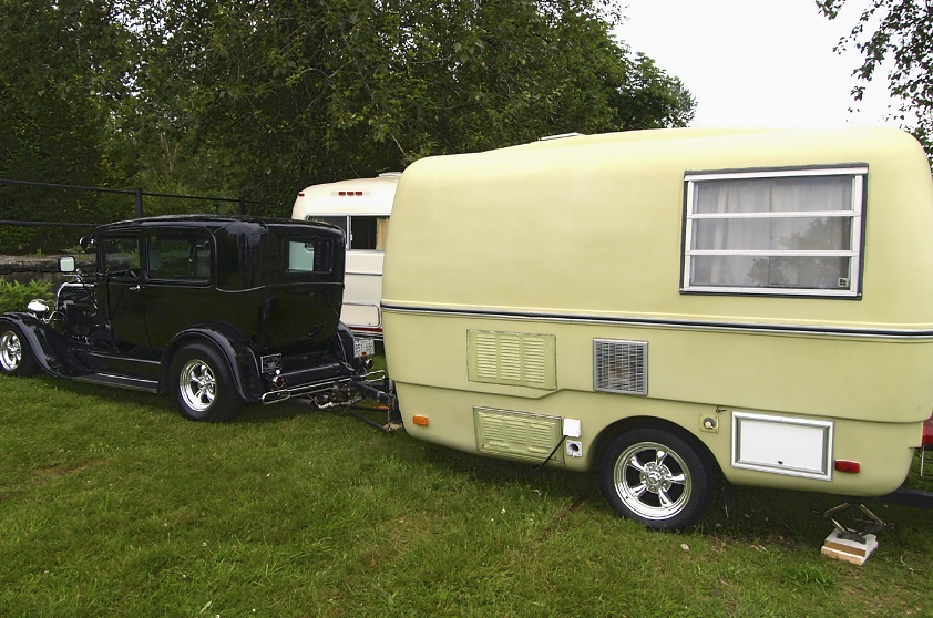 antique caravan